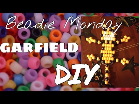 Beadie Monday Diy Pony Bead Keychain Garfield Youtube