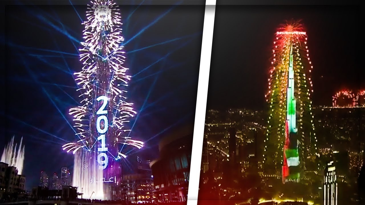 Новогодний Салют В Дубае 2019 Побил Рекорды Книги Гиннесса (ПОЛНОЕ ШОУ)
