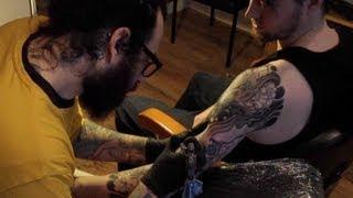 Japanese Tattoo By Diego Azaldegui - Foo Dog And Peonies