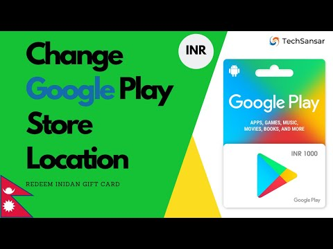 How To Change Google Play Store Location To India & Redeem Indian Google Play Gift Card.