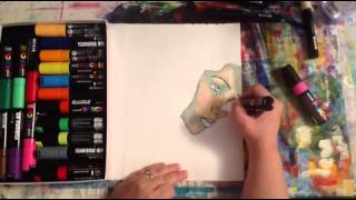 Uni Posca Paint Pens - Ocean Goddess