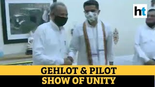 Watch: CM Gehlot & Pilot meet; BJP to move no-confidence motion on Friday