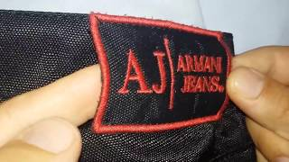 real vs fake Armani Jeans. How to spot fake Armanis