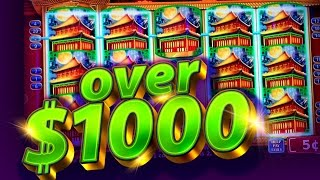 Dynasty Riches - over $1000 WIN!!! BONUS HITS - 5c Konami Video Slots