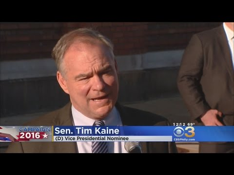 Democratic Vice Presidential Candidate, Tim Kaine Visits Philly School