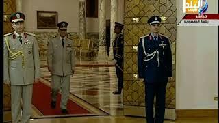 صدى البلد - لحظة اداء الفريق محمد زكى وزير الدفاع الجديد اليمين الدستورية أمام الرئيس
