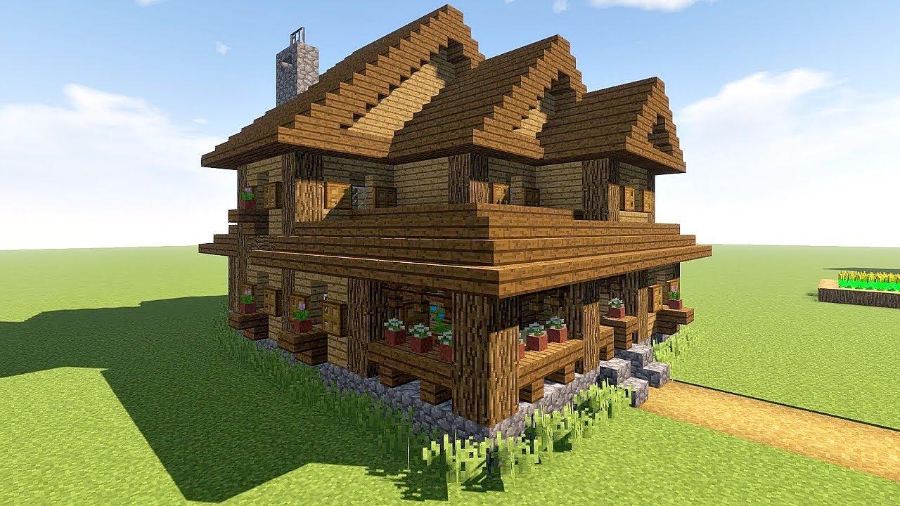 Картинки как сделать большой уютный дом в майнкрафте ...