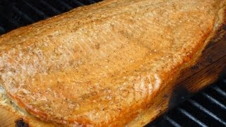 Cedar Plank Salmon With Maple Syrup Glaze