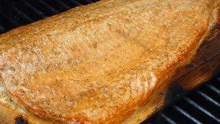 Cedar Plank Salmon With Maple Syrup Glaze
