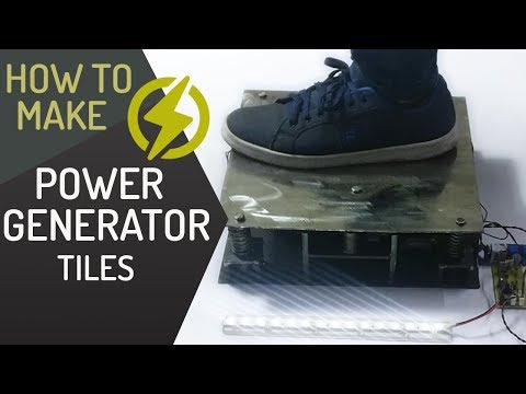 Generate Electricity by Walking Power Generator Floor Tiles Project