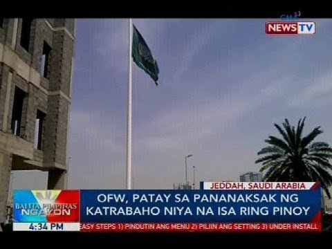 OFW, patay sa pananaksak ng katrabaho niya na isa ring Pinoy