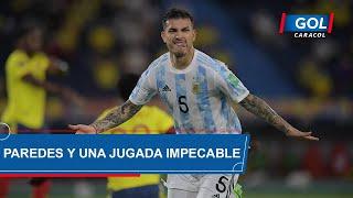 Colombia vs Argentina: gol de Leandro Paredes se 'inventó' una jugada y marcó