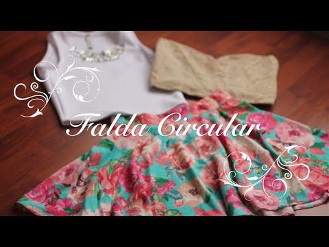 Como Hacer una Falda Circular Perfecta!!! (Trazo y Confección)