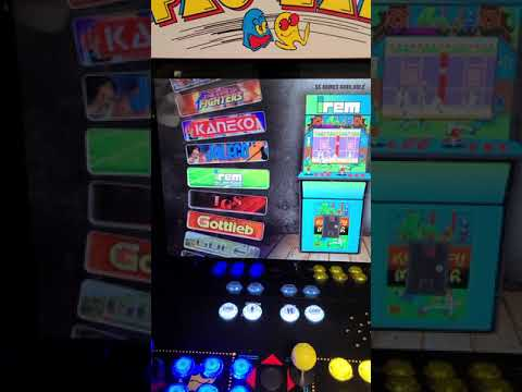 pacman arcade 1up upgrade 2400 games from J M Arcades