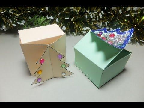 cajas de regalo con rbol de navidad diy