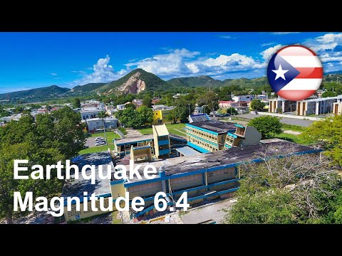 Earthquake Damage In Guanica, Puerto Rico Magnitude 6.7