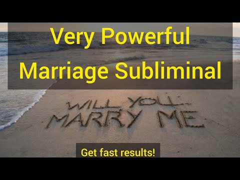 VERY POWERFUL! Subliminal ! Get Married To Your Desired Person | Marriage Subliminal