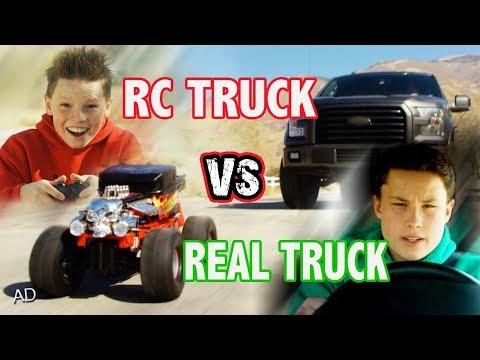 Real Truck vs RC Monster Truck!