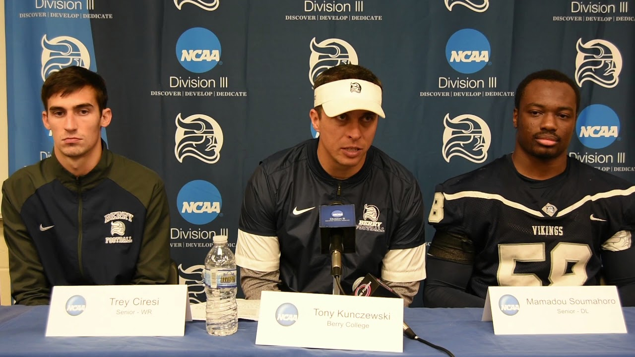 Berry College Football Press Conference Youtube