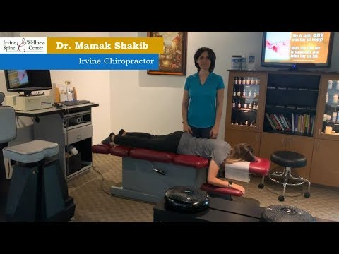 Chiropractic adjustment on Chiropractic assistant in Irvine, Orange County