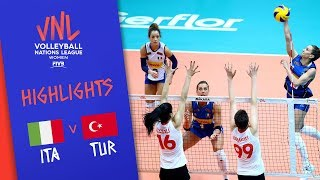 ITALY vs. TURKEY - Highlights Women | Week 5 | Volleyball Nations League 2019