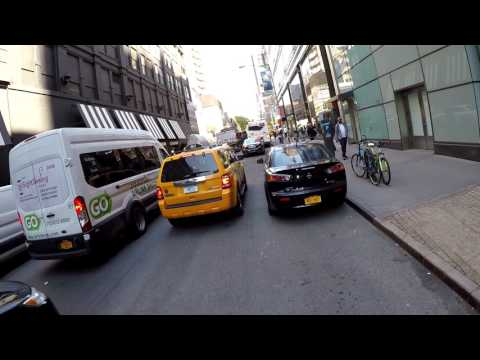 Dangerous Cycling from 59th Street and 6th Avenue to Queens via 59th Street Queensboro Bridge