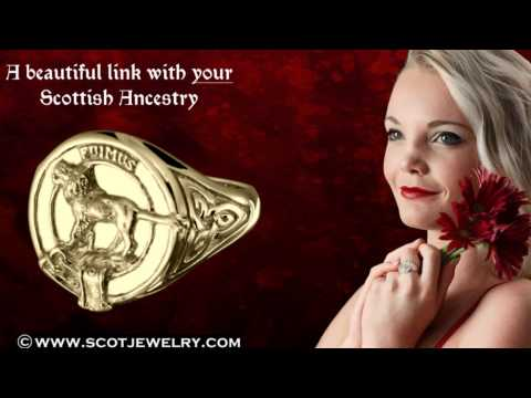 Bruce Clan Crest Ring For Ladies