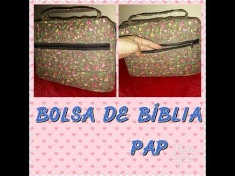 28f5fb580 BOLSA PORTA BÍBLIA PASSO A PASSO - YouTube