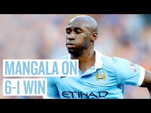 """AGUERO'S BACK IN FORM""   Elia Mangala Post Match   City 6-1 Newcastle"