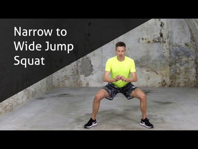 Narrow To Wide Jump Squat - hoe voer ik deze oefening goed uit?