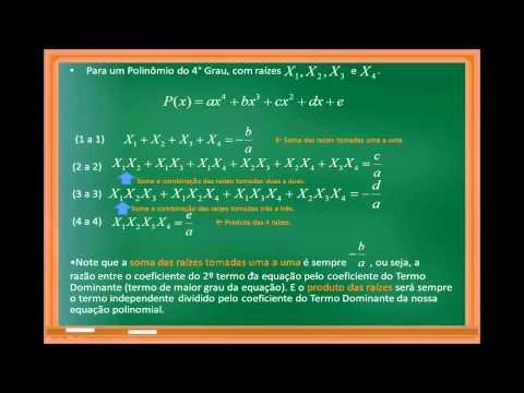 Introdução aos Polinômios - Aula 02 - Relações de Girard