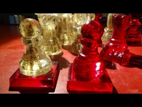 Working on the Resin Chess Set/ Whispering