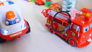 мультфильмы машинки спецтехника пожарная машина, полицейская, скорая помощь, строительная техника