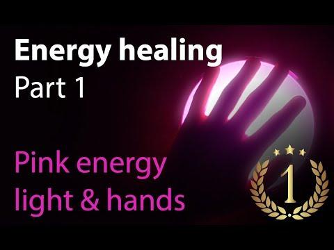 Reiki Energy healing Part 01 - Pink energy light & hands