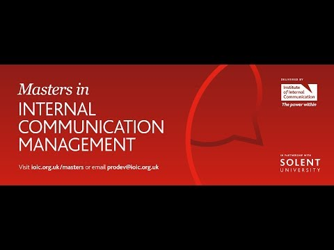 The Masters In Internal Communication Management Launch Event