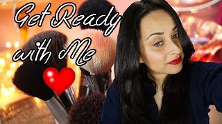 Get Ready with Me : My Winter Look / Cherry Red lips with Neutral eyes