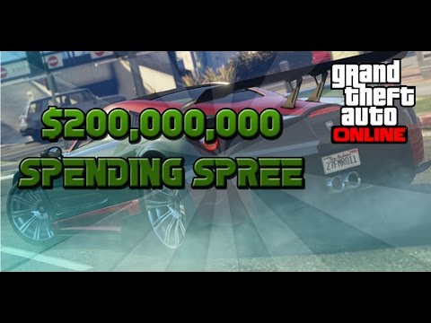 GTA 5 ONLINE $200,000,000 SPENDING SPREE BUYING EVERYTHING IN THE GAME