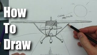 How To Draw A Cessna 172 Airplane EASY