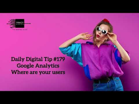 Digital Daily Tip #179   GA users by country
