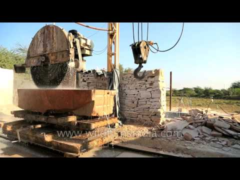 Marble cutting and polishing in India: Rajathan marble stone mining