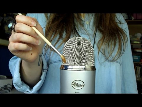 ASMR Brushing Microphone with Various Paint Brushes (No Talking)