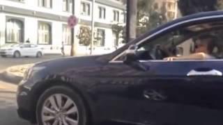 drunk girl with her car , piani devushka za ruliom