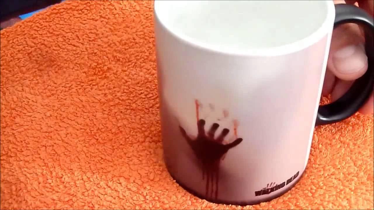 Ceramic Changing Color Sensitive Walking Mug Cup The Dead Heat kiOTXPZu