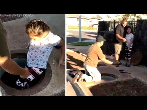 Kids rushed into manhole during Hawaii missile threat
