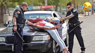 Fake POLICE OFFICER Prank   Pulling People Over ! (MUST WATCH)
