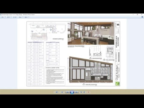 8-2 Kitchen Part 2, Waterfall Island, Section View, Construction Docs– Breckenridge Home Design