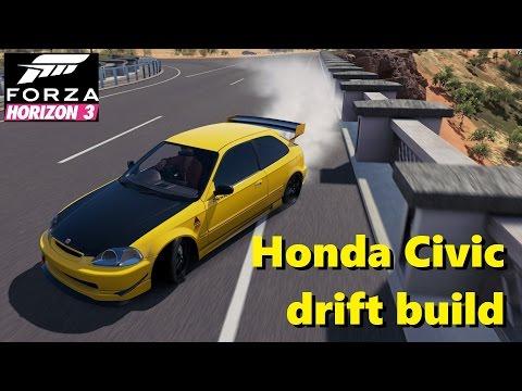 Honda Civic Type-R 1997 RWD drift build