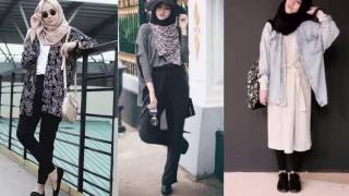 Casual Hijab Outfits For Girls - Korean Style