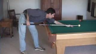 Pool and billiards pendulum stroke technique and advice (NV 2.5)