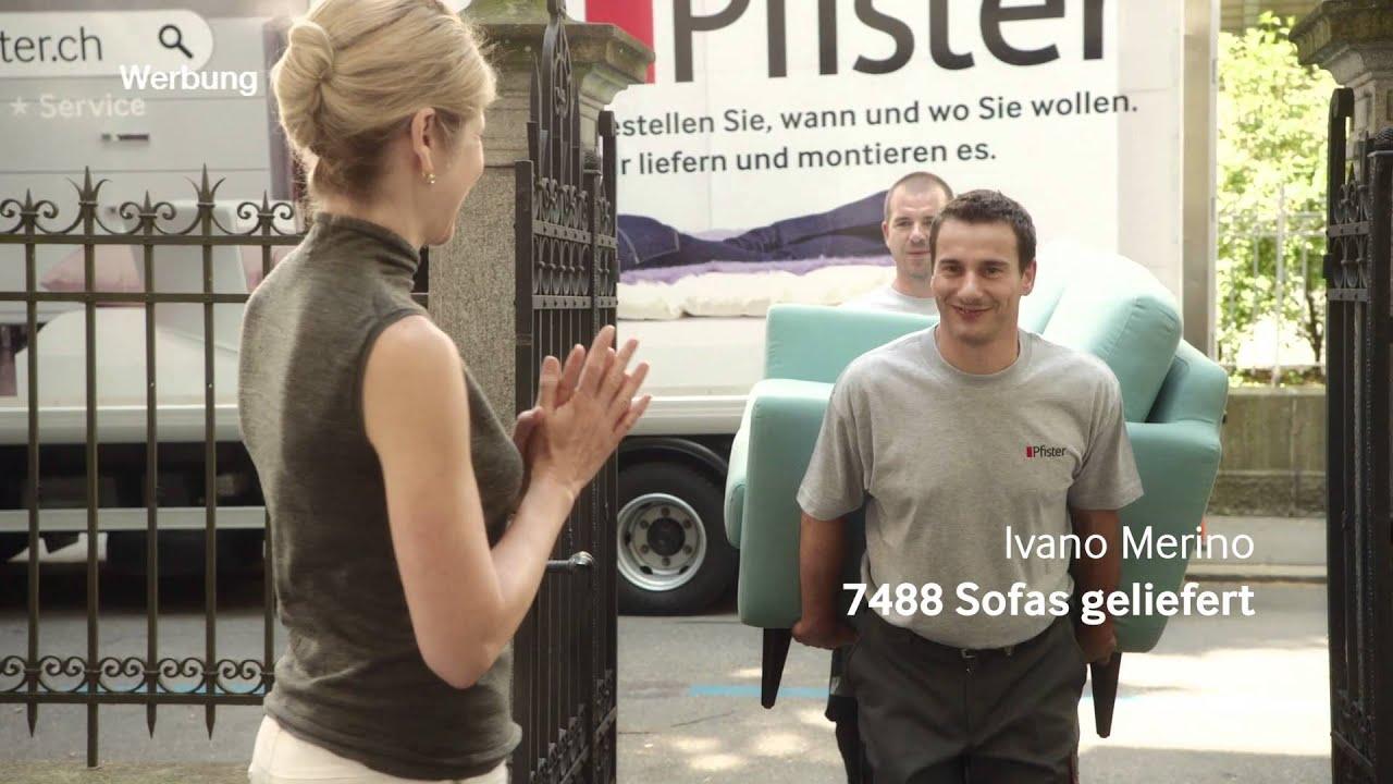 m bel pfister tv spot 5 service sujet sofa deutsch youtube. Black Bedroom Furniture Sets. Home Design Ideas
